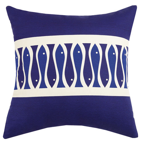 Fish Ribbon Outdoor Pillow  20 in.