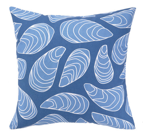Blue Mussel Shells Outdoor Pillow  20 in.