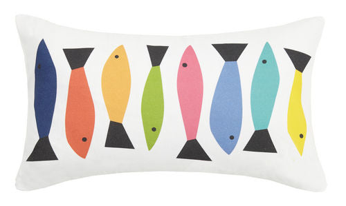 Fish Line Pillow 12 in. x 20 in.
