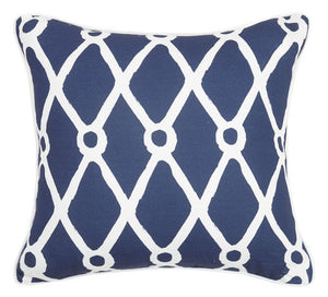 Navy Fishnet Pillow 20 in.