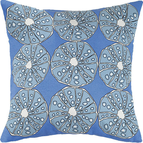 Blue Urchins Outdoor Pillow 20 in.