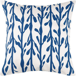 Indigo Coast Seaweed Outdoor Pillow  20 in.