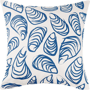 Indigo Coast Shells Outdoor Pillow  20 in.