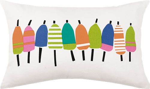 Colorful Buoys Outdoor Pillow 12 in. x 20 in.