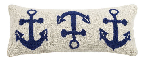 Three Anchor Hooked Pillow 8 in.  x 20 in.