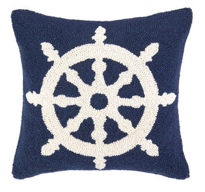 Helm Hooked Pillow 16 in.