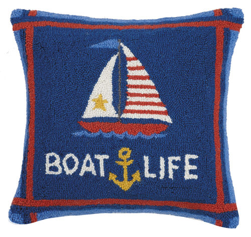 Boatlife Hooked Pillow 18 in.