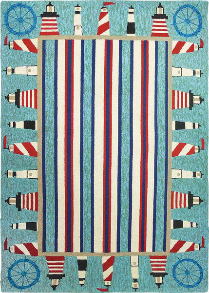 Lighthouses Indoor-Outdoor Area Rug