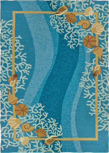Shells & White Coral Indoor-Outdoor Area Rug