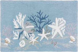 White Coral Reef Indoor Outdoor Area Rug