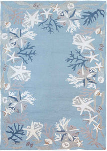 Coral Reef Area Rug for Coastal Beach Decor