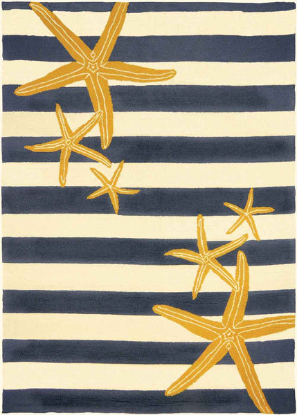 Starfish Gunmetal & Gold Indoor-Outdoor Area Rug