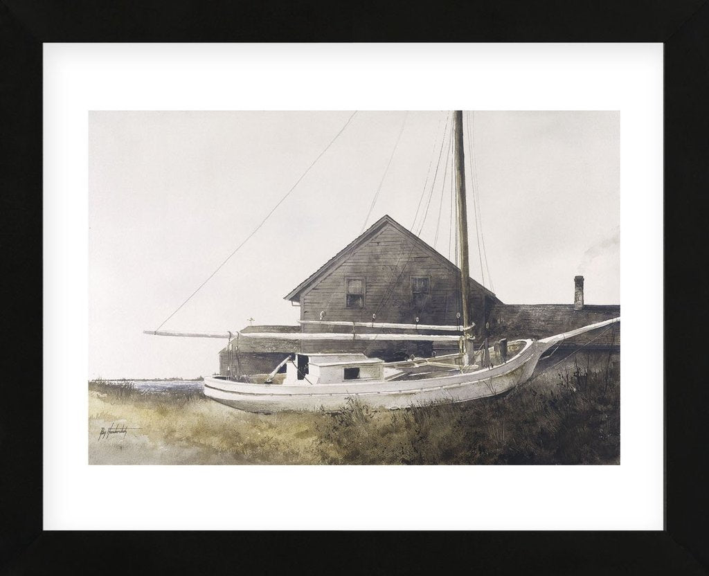 Drydocked Framed Art Print -  Artist Ray Hendershot