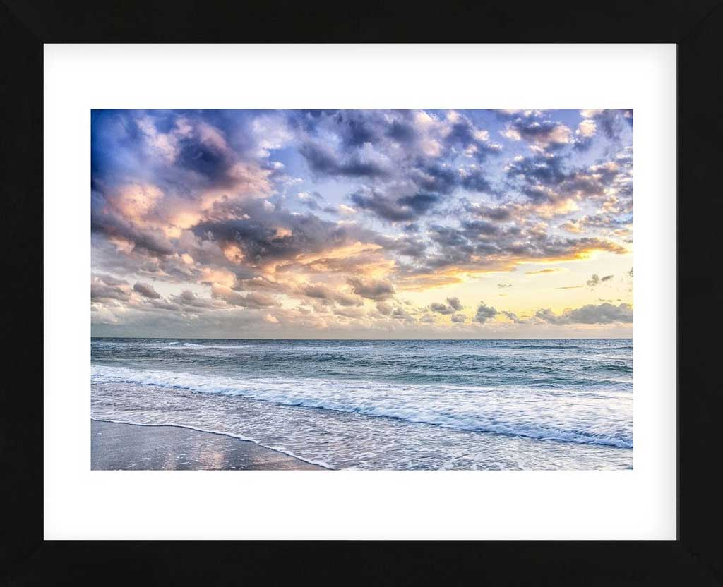Evening Tide Framed Art Print -  Artist Mary Lou Johnson