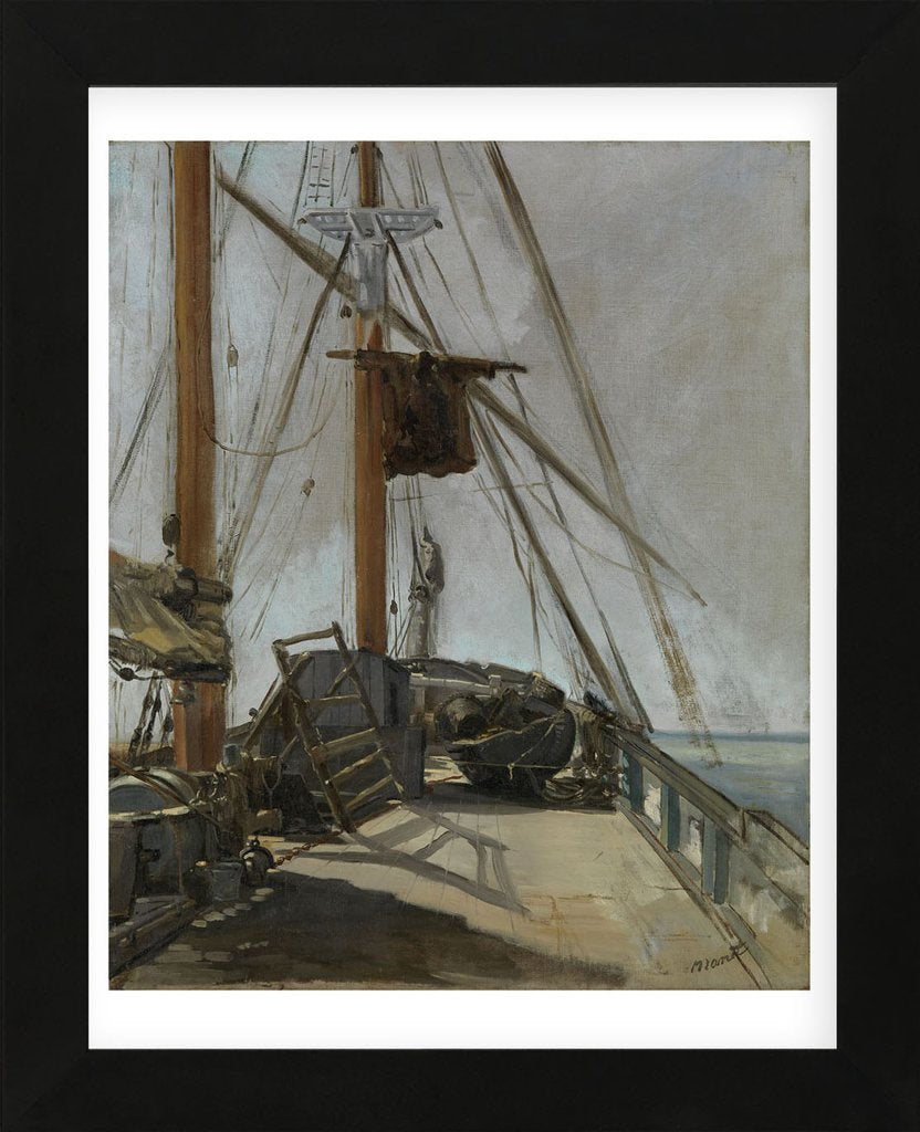 The Ship's Deck c. 1860 Framed Art Print -  Artist Edouard Manet
