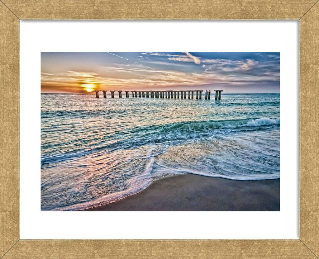 Sun Down Framed Art Print -  Artist Mary Lou Johnson