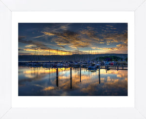 Seneca Lake Sunrise Framed Art Print -  Artist  Robert Lott
