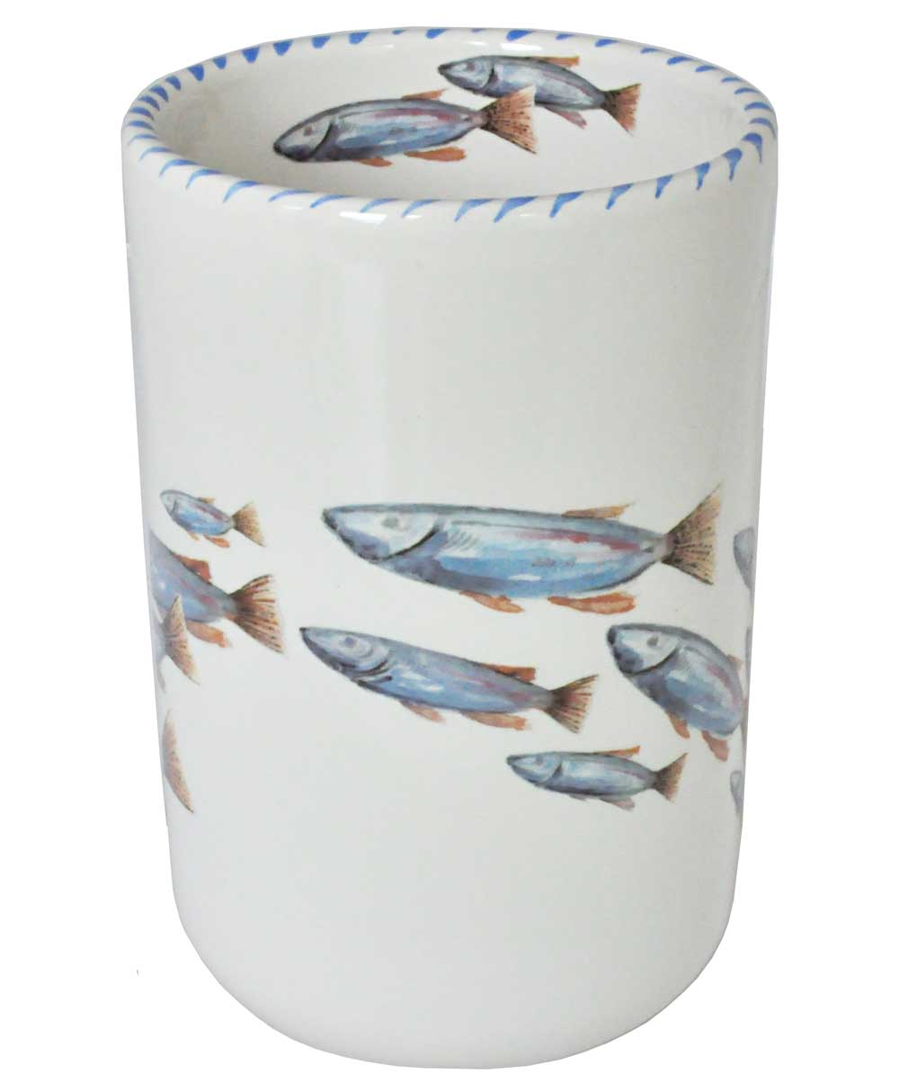 Lake Fish Wine Bottle Holder / Utensil Holder / Vase