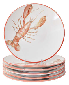 Lobster 10 Inch Dinner Plates (Set of 6)
