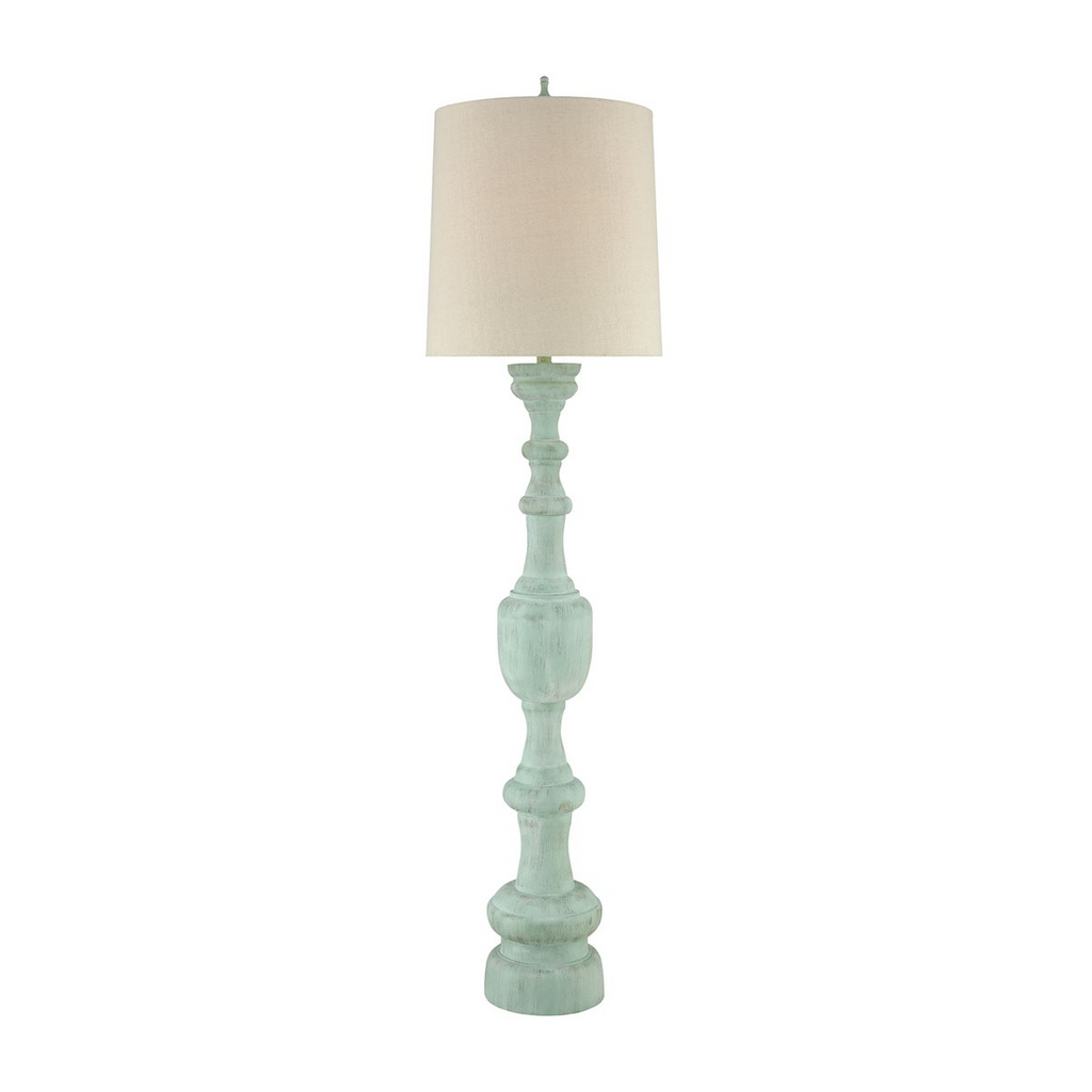 Summerhouse Turquoise Floor Lamp