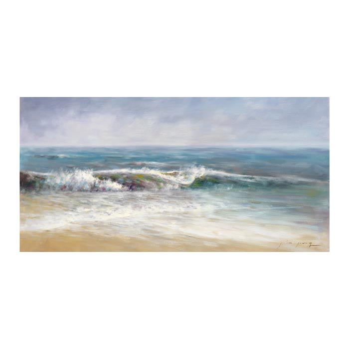 Surf Spray 1 Canvas Art Print - Artist John Young