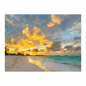 Bahamas Sunset Canvas Art Print - Artist Donald Paulson