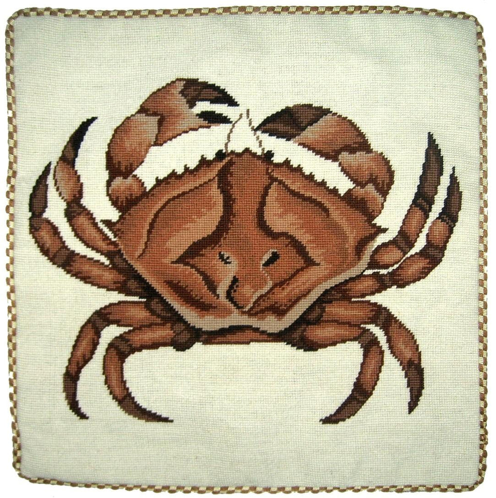 Brown Crab Grosspoint Pillow 21 in.