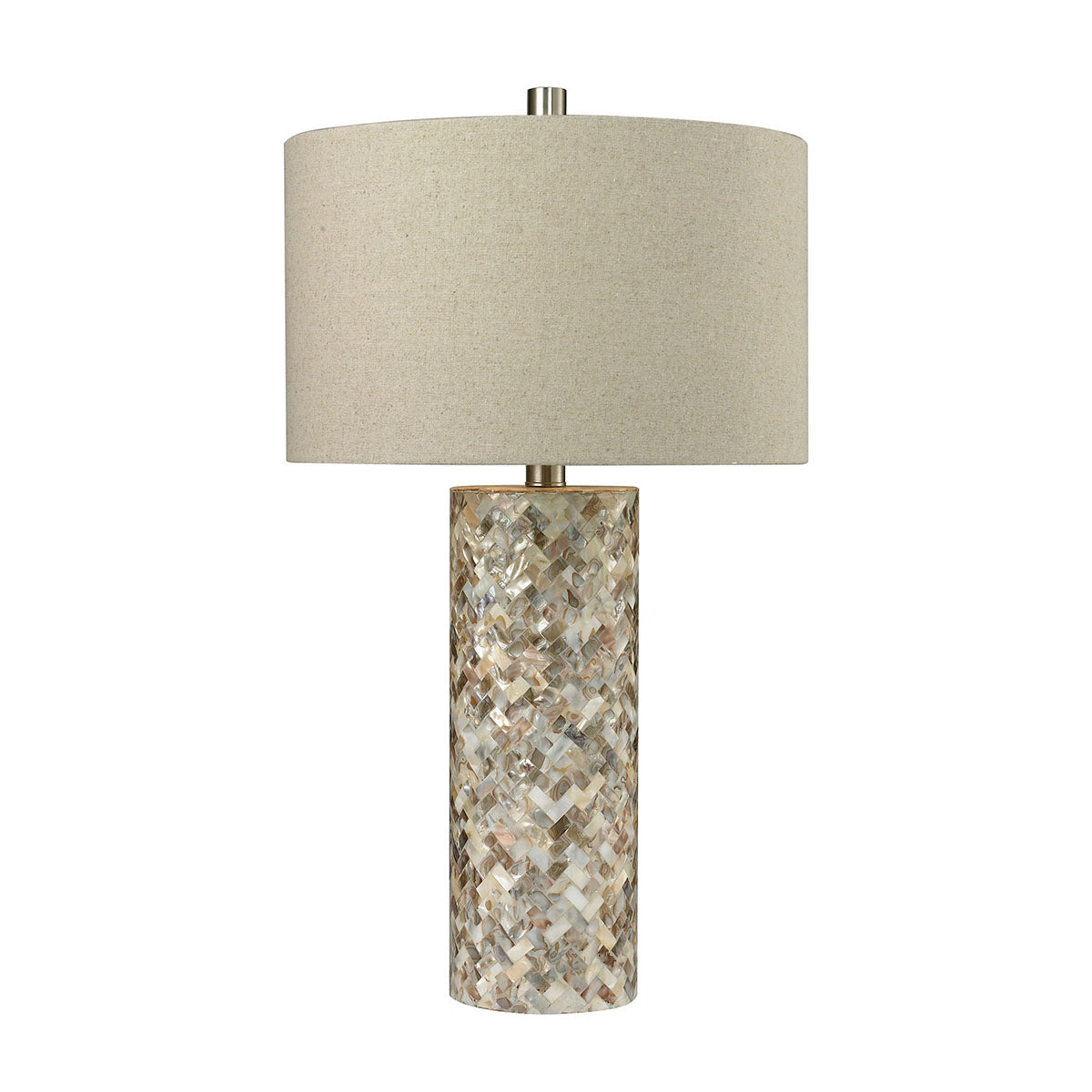 Herringbone Table Lamp In Natural Mother of Pearl