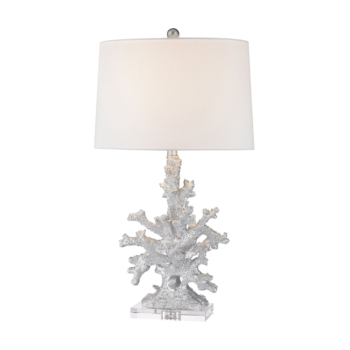 Trunk Bay 1 Light Table Lamp In Silver