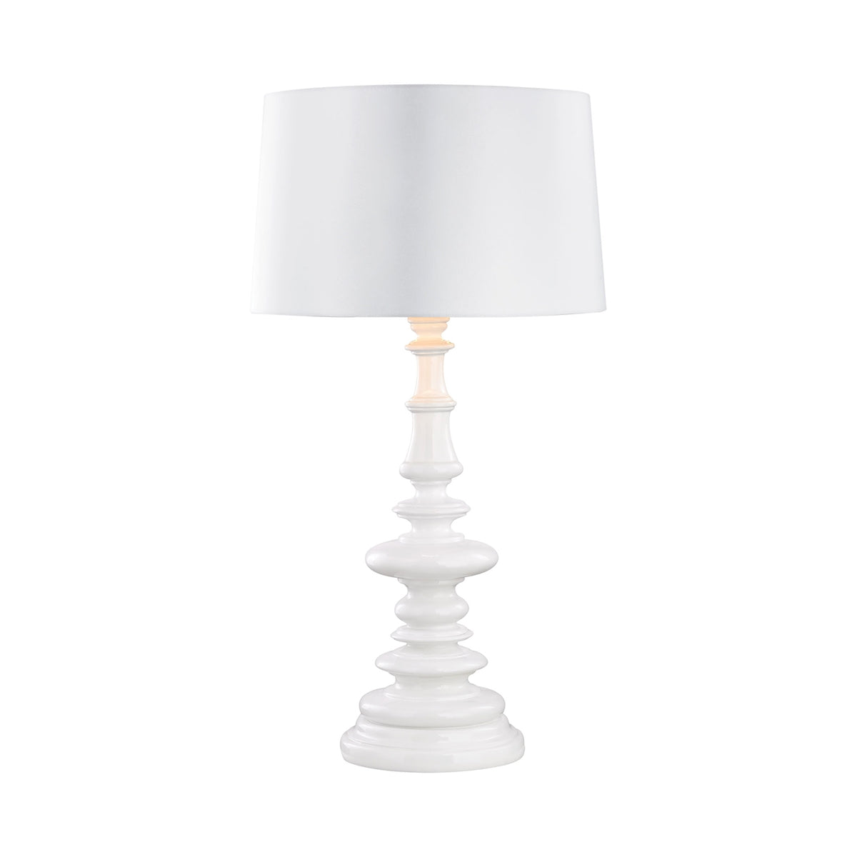 Corsage Outdoor Table Lamp With White Shade