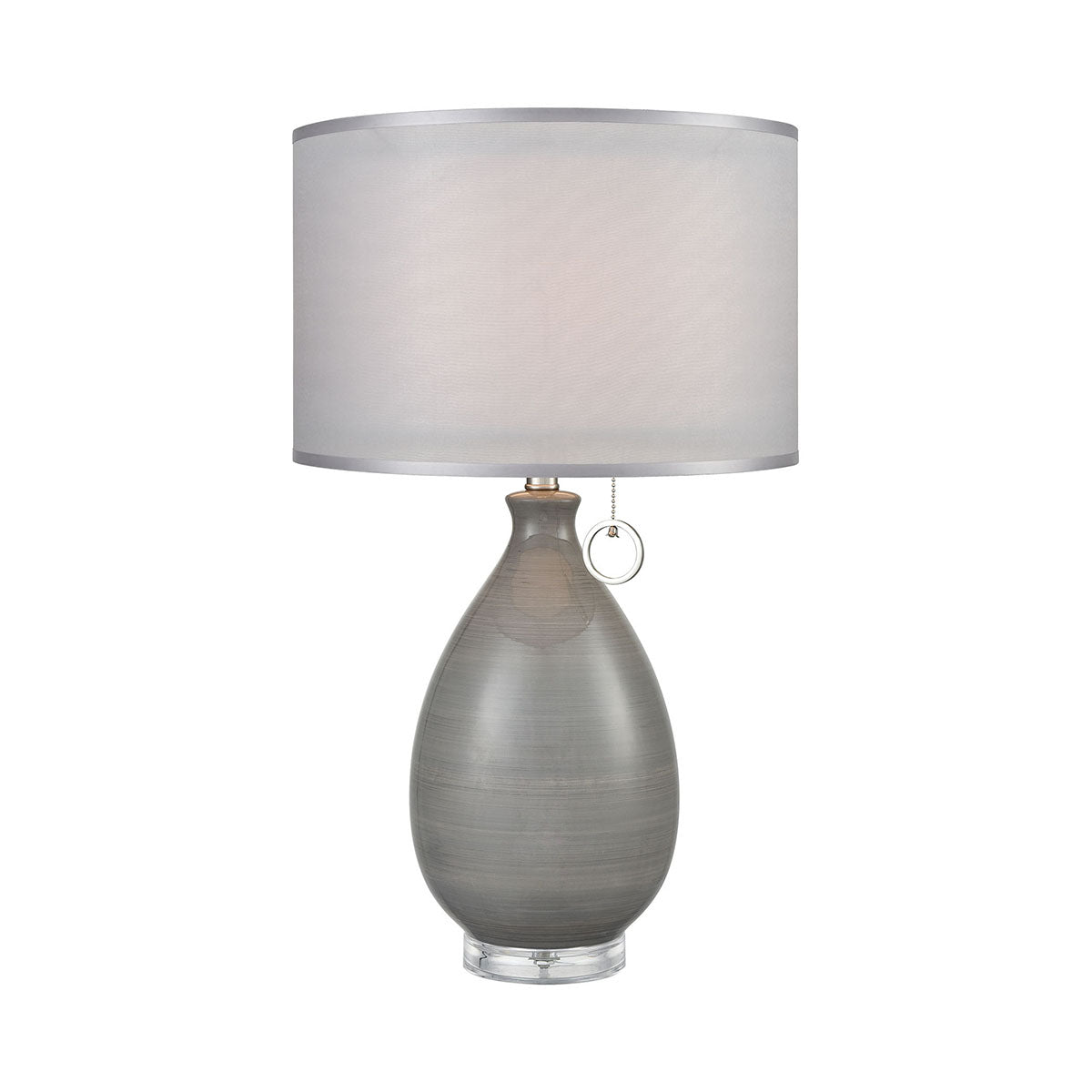 Clothilde Grey Table Lamp