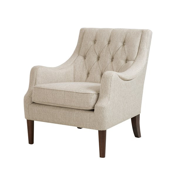 Button Tufted Arm Chair - Cream
