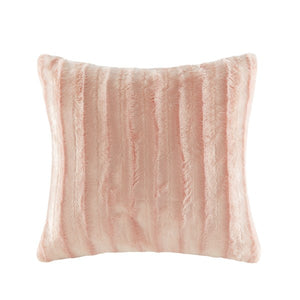 Shell Pink Pillow 20 In. and Throw 50 in. x 60 in.