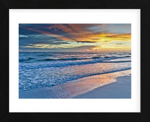 Sunset Reflections Framed Art Print -  Artist Mary Lou Johnson