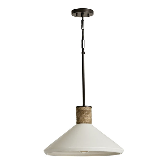 Capital Lighting 1 Light Pendant 340613PW Coastal Lighting