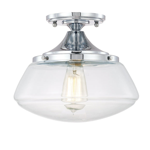 Capital Lighting 1 Light Semi-Flush 3537CH-134 Coastal Lighting