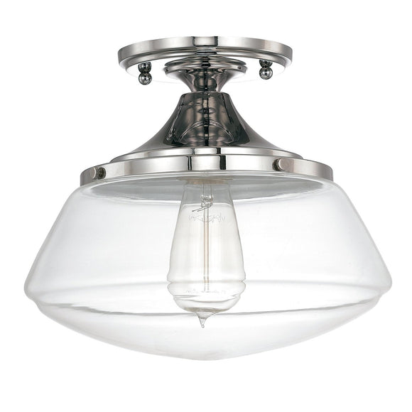 Capital Lighting 1 Light Semi-Flush 3537PN-134 Coastal Lighting