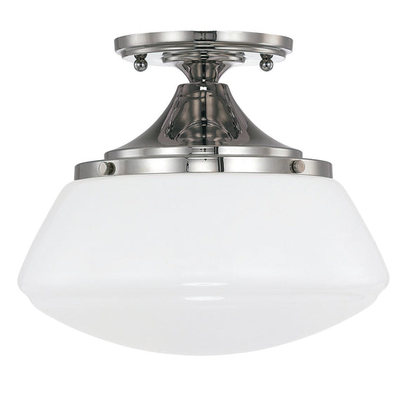 Capital Lighting 1 Light Semi-Flush 3537PN-129 Coastal Lighting
