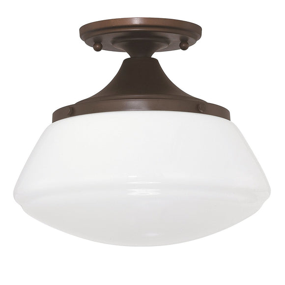 Capital Lighting 1 Light Semi-Flush 3537BB-129 Coastal Lighting