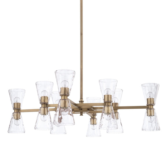 Capital Lighting 16 Light Chandelier 427501AD-456 Coastal Lighting