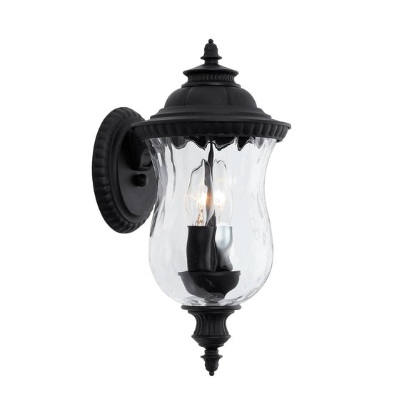Capital Lighting 2 Light Outdoor Wall Lantern 939821BK Coastal Lighting