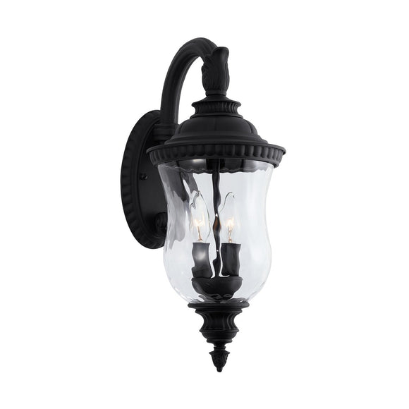 Capital Lighting 2 Light Outdoor Wall Lantern 939822BK Coastal Lighting