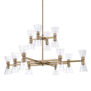 Capital Lighting 24 Light Chandelier 427502AD-456 Coastal Lighting