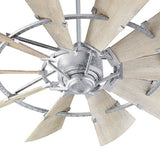 Quorum 52 Windmill Ceiling Fan - Galvanized Coastal Lighting