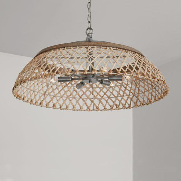 Capital Lighting 6 Light Pendant 340862GK Coastal Lighting