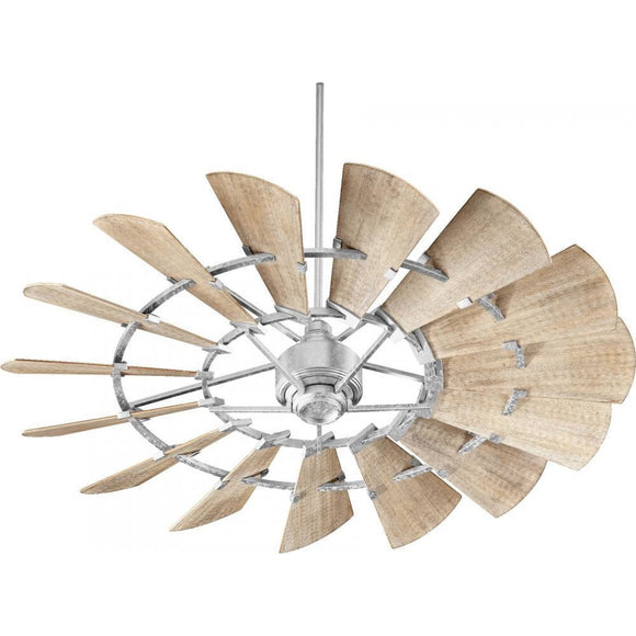 Quorum 60 Windmill Ceiling Fan - Galvanized Coastal Lighting