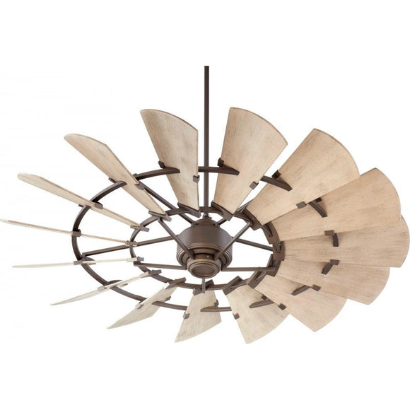 Quorum 60 Windmill Ceiling Fan - Oiled Bronze 96015-86 Coastal Lighting
