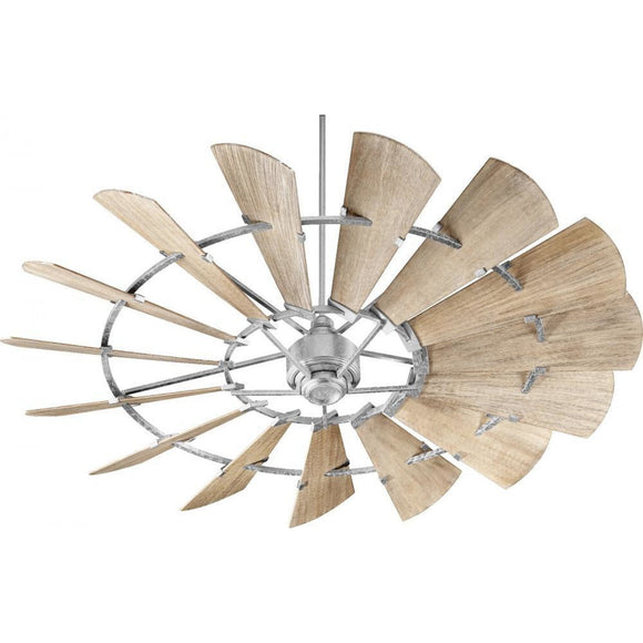 Quorum 72 Windmill Ceiling Fan - Galvanized 97215-9 Coastal Lighting