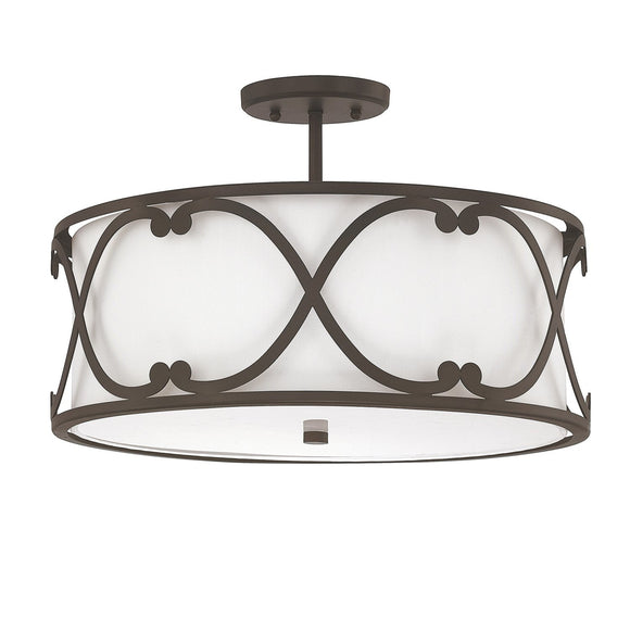 Capital Lighting Alexander Three Light Semi Flush 4743BB-610 Coastal Lighting