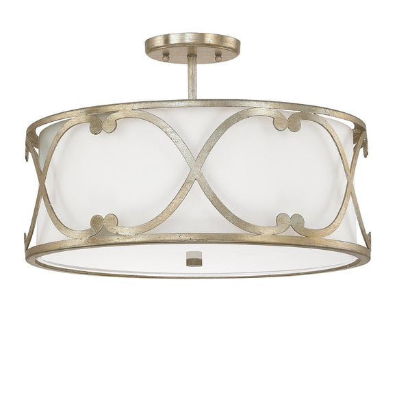 Capital Lighting Alexander Three Light Semi Flush 4743WG-610 Coastal Lighting